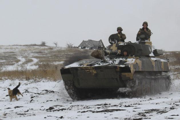 Ukrainan armeijan joukkoja Itä-Ukrainassa maanantaina 26. marraskuuta 2018.