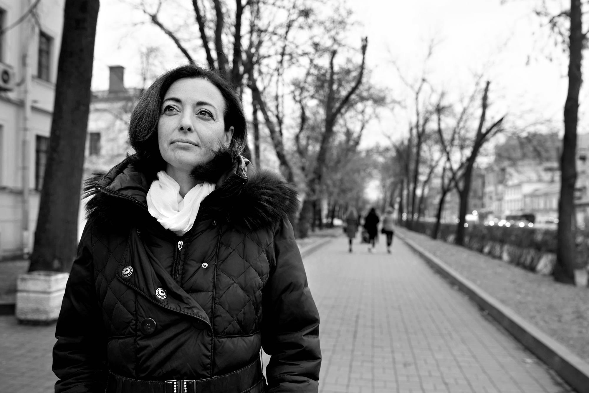 Olga Jeremejeva sai hivin entiseltä mieheltään, joka kuoli 2015.