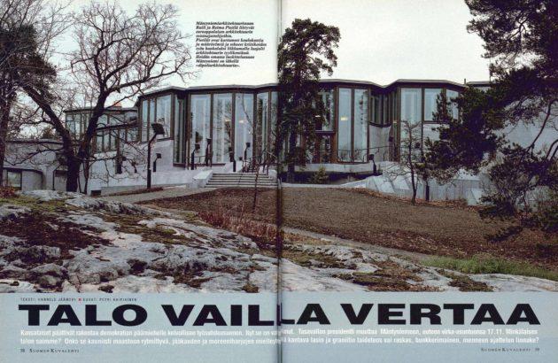 """SK 45/1993 (12.11.1993) Hannele Jäämeri: """"Talo vailla vertaa"""" Kuva: Petri Kaipiainen"""