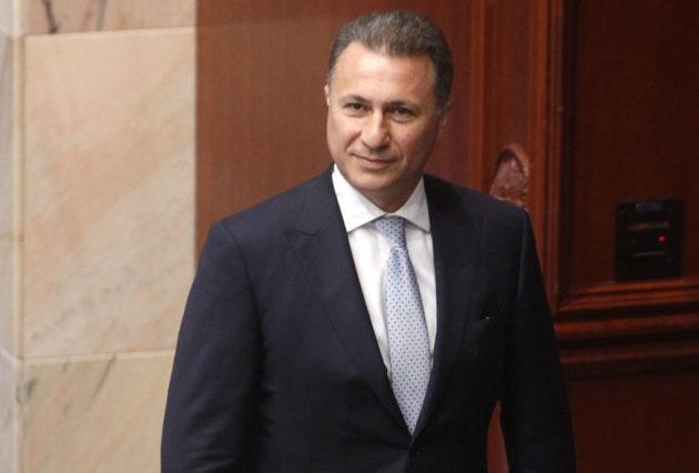 Makedonian entinen pääministeri Nikola Gruevski maan parlamentissa Skopjessa 19. lokakuuta 2018.