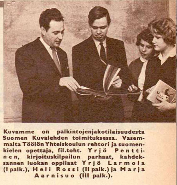 Ruutukaappaus Suomen Kuvalehdestä 49/1958.