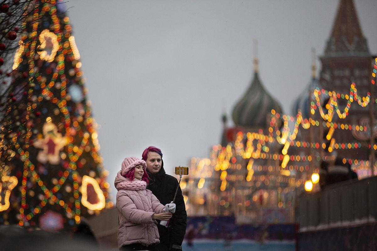 Moskovan Punainen tori joulukuussa 2018.