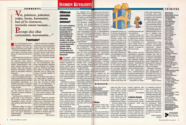 """SK 51–52/1993 (23.12.1993) Seija Lamberg: """"Panettaako?"""""""