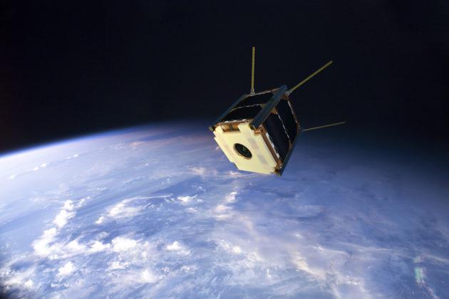Havainnekuva Suomi 100 -satelliitista avaruudessa.