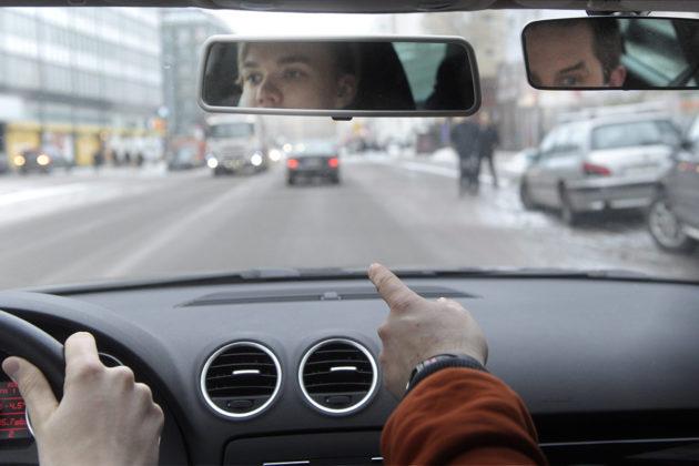 Ajo-opetustunti Helsingissä. Arkistokuva.