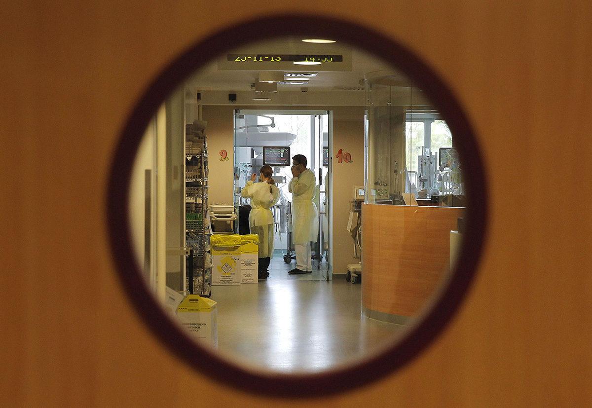 Sairaala Belgiassa. Kuvituskuva.