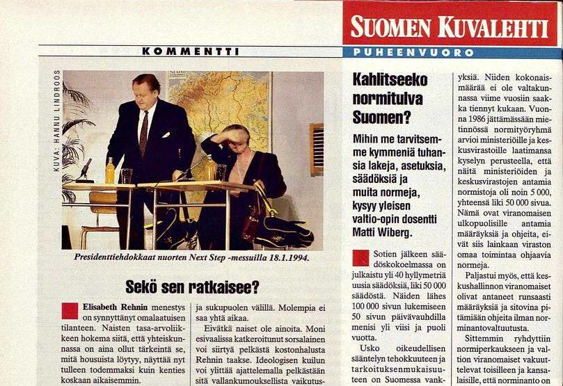 """SK 4/1994 (28.1.1994) Jouni Tervo: """"Sekö sen ratkaisee?"""" Kuva: Hannu Lindroos"""