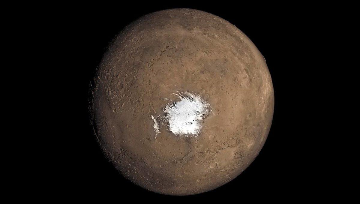 Marsin jäätikön alta saattaa löytyä järvi.