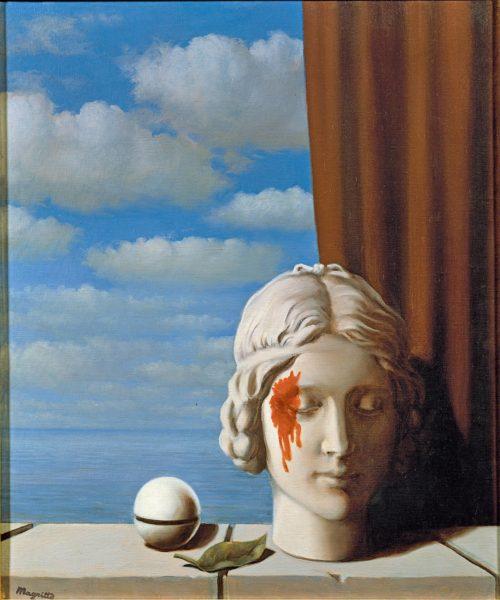 Unenomaisessa La Mémoire -maalauksessa (1948) näkyy Magritten ihaileman Giorgio de Chiricon vaikutus.