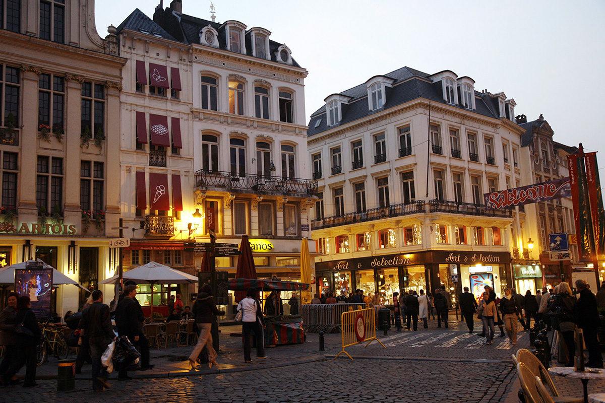 Brysselin vanhaa kaupunkia. Kuvituskuva.