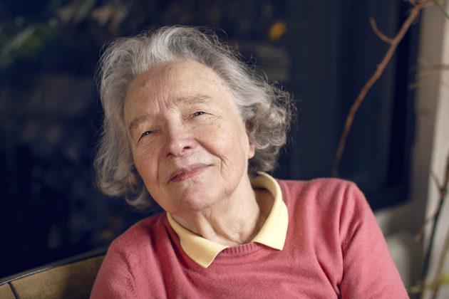 Kirjailija Eeva Kilpi kotonaan Tapiolassa marraskuussa 2018.