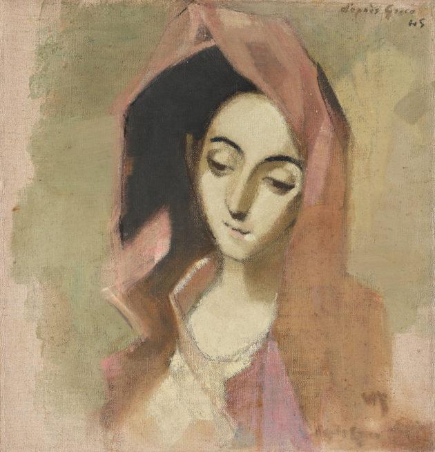 Helene Schjerfbeck, Kevään madonna (1942).