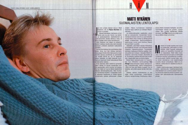 Matti Nykänen oli Suomen Kuvalehden viikon Hän numerossa 11/1990.