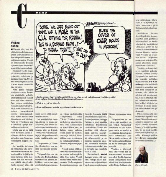 """SK 9/1994 (4.3.1994) Paavo Keisalo: """"Vaikea suhde"""""""