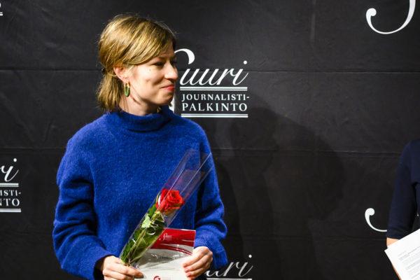 Suomen Kuvalehden toimittaja Vappu Kaarenoja nimettiin 13. helmikuuta 2019 ehdolle vuoden journalistiksi.
