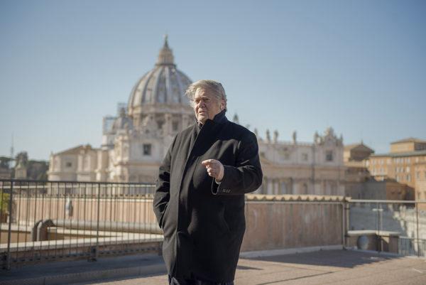 Steve Bannon Vatikaanissa 23. helmikuuta 2019.