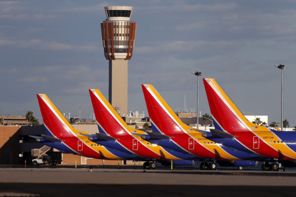 Boeing 737 MAX -matkustajakoneita Phoenixin lentokentällä Yhdysvalloissa 13. maaliskuuta 2019.