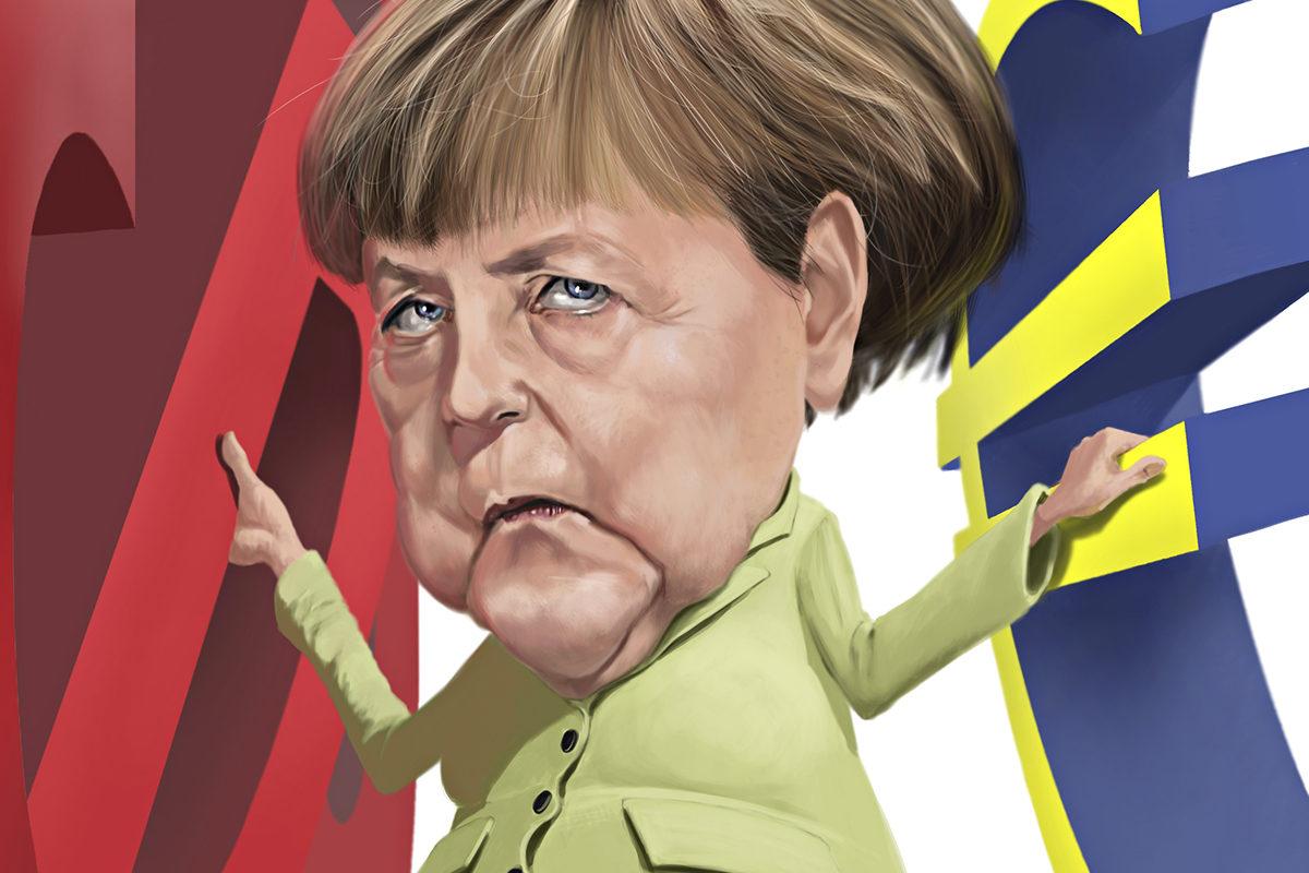 Angela Merkel johti Saksan CDU-puoluetta 18 vuotta. Hänen EU-politiikkansa oli pragmaattista.