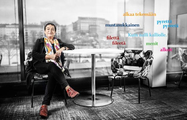 Ulla-Maija Forsberg on Suomen johtava kielipoliisi.