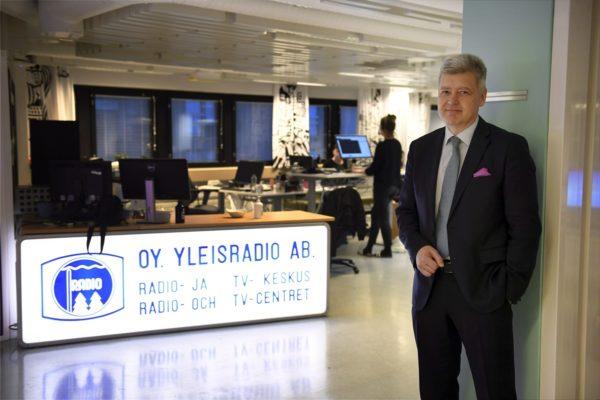 LKS 20180125 Yleisradion toimitusjohtaja Lauri Kivinen kuvattuna YLEN X toimituksessa torstaina 25. tammi kuuta 2018. Kivinen kertoi torstaina että, hän jättää yhtiön ja siirtyy yksityiselle sektorille. LEHTIKUVA / ANTTI AIMO-KOIVISTO