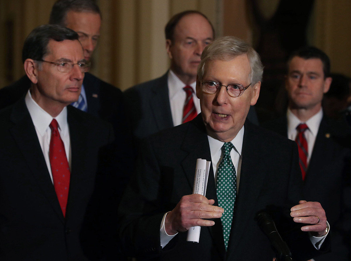 Senaatin enemmistöjohtaja Mitch McConnell 12. helmikuuta 2019.