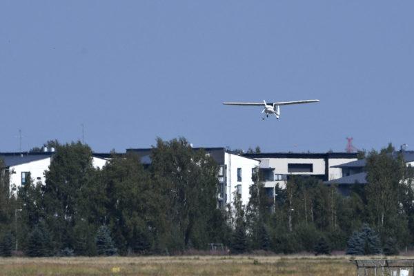 Suomen ensimmäinen sähkömoottorilentokone, Helsingin Sähkölentokoneyhdistyksen Pipistrel Alpha Electro, lensi Helsingissä heinäkuussa 2018.