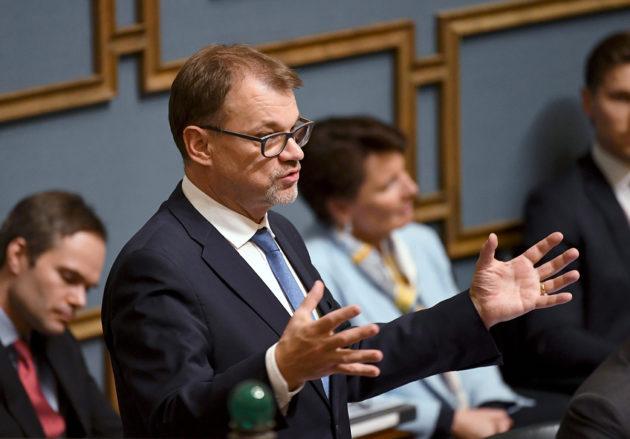 Pääministeri Juha Sipilä eduskunnan kyselytunnillta 28. helmikuuta 2019.