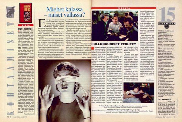"""SK 16/1994 (22.4.1994) Hannele Jäämeri: """"Miehet kalassa –naiset vallassa?"""""""