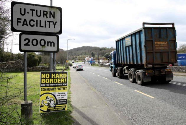 Irlannin ja Pohjois-Irlannin välinen raja 25. maaliskuuta 2019.