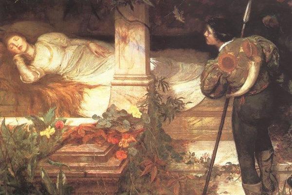 Edward Frederick Brewtnallin maalaus jo 1300-luvulta asti tunnetusta Prinsessa Ruususen sadusta.
