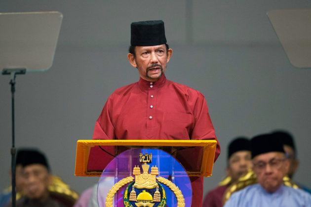 Brunein sulttaani Hassanal Bolkiah piti puheen Bandar Seri Begawanissa 3. huhtikuuta 2019.