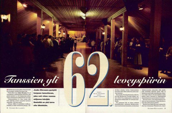 """SK 13/1994 (31.3.1994) Reijo Vahtokari: """"Tanssien yli 62. leveyspiirin"""""""