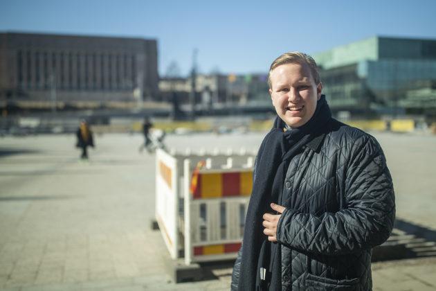 Väinnö Tuovinen on keskustan ehdokkaana kevään 2019 eduskuntavaaleissa.