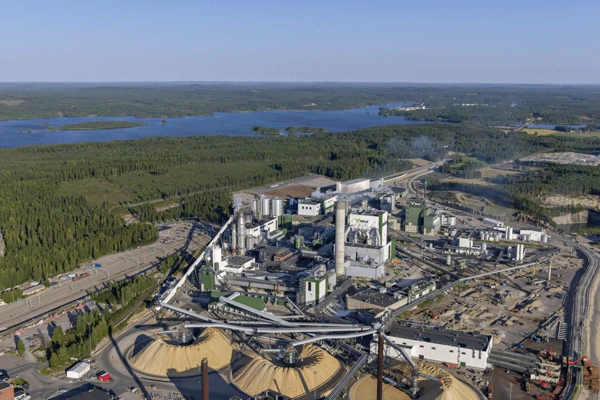 Metsä Groupin biotuotetehdas valmistui Äänekoskelle loppuvuodesta 2017.