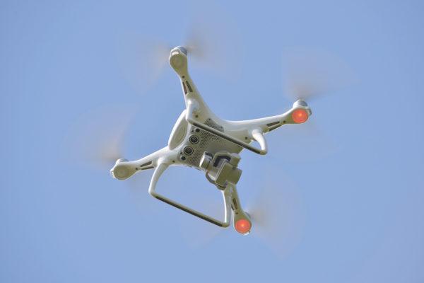 Kuvauskopteri ilmassa.