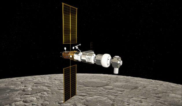 Kuuta kiertävälle Gateway-asemalle mahtuisi asemaan neljä astronauttia enintään kolmeksi kuukaudeksi kerrallaan. Kuulento. Kuulennot.