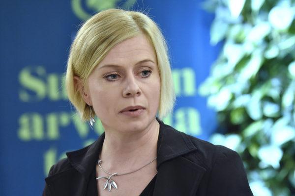 Riikka Pakarinen esitteli keskustan eurovaaliohjelman Helsingissä perjantaina 26. huhtikuuta 2019.