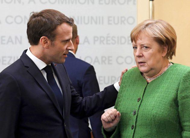 Ranskan presidentti Emmanuel Macron ajaa kunnianhimoista EU-politiikkaa. Saksan liittokansleri Angela Merkel jarruttelee.