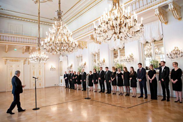 Presidentti Sauli Niinistö tervehti uutta hallitusta heti sen nimittämisen jälkeen 6. kesäkuuta.