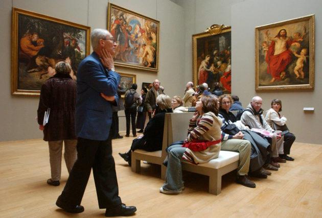 Paul Rubensin töitä esillä Palais des Beaux-Arts -museossa Ranskan Lillessä. Rubens on yksi taiteilijoista, joiden töitä on Facebook on sensuroinut mainoksista alastomuuden vuoksi.