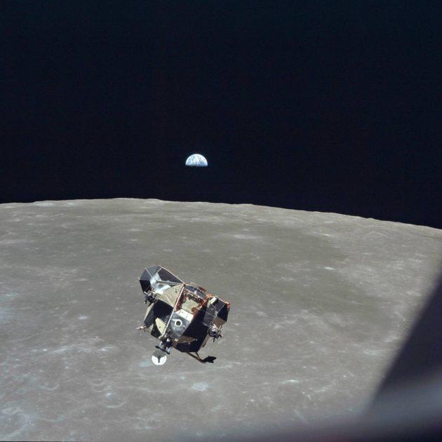 Astronautit lähestyivät Kuuta 21. heinäkuuta 1969.