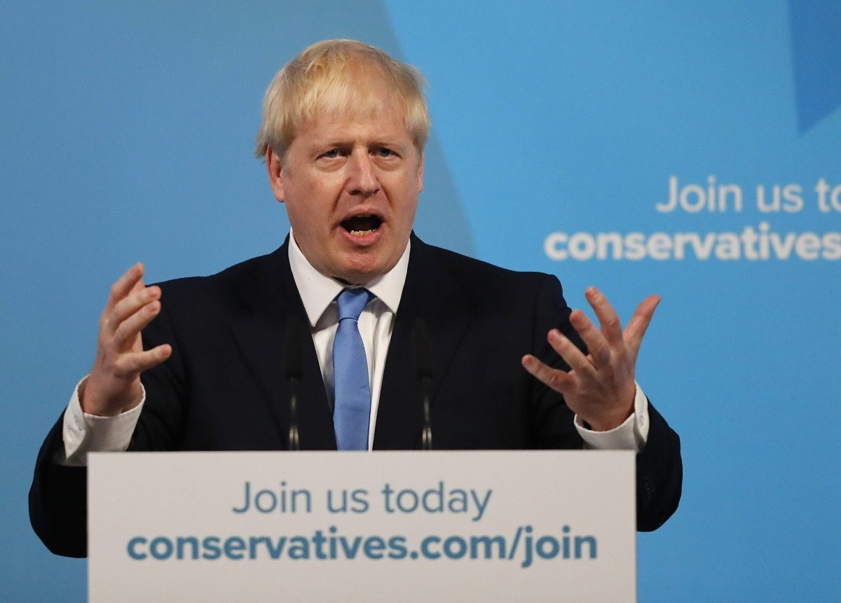 Boris Johnson piti puheen Lontoossa tultuaan valituksi konservatiivipuolueen puheenjohtajaksi.