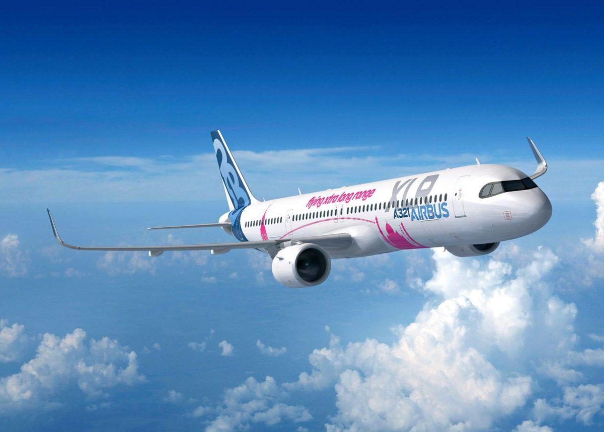 Havainnekuva Airbusin uudesta kapearunkoisesta pitkän kantaman XLR-koneesta.