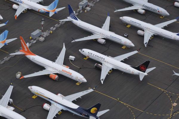 Lentokiellossa olevia Boeing 737 MAX -koneita säilytettiin Seattlessa Yhdysvalloissa 27. kesäkuuta 2019.
