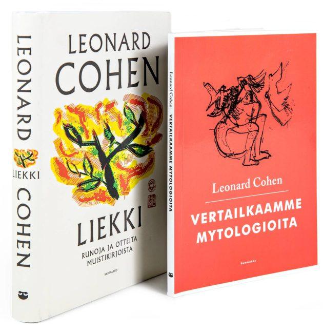 Leonard Cohen: Vertailkaamme mytologioita. Suom. Antton Kainulainen. 93 s. Sammakko, 2019. Liekki. Suom. Ville-Juhani Sutinen. 288 s. Sammakko, 2018.