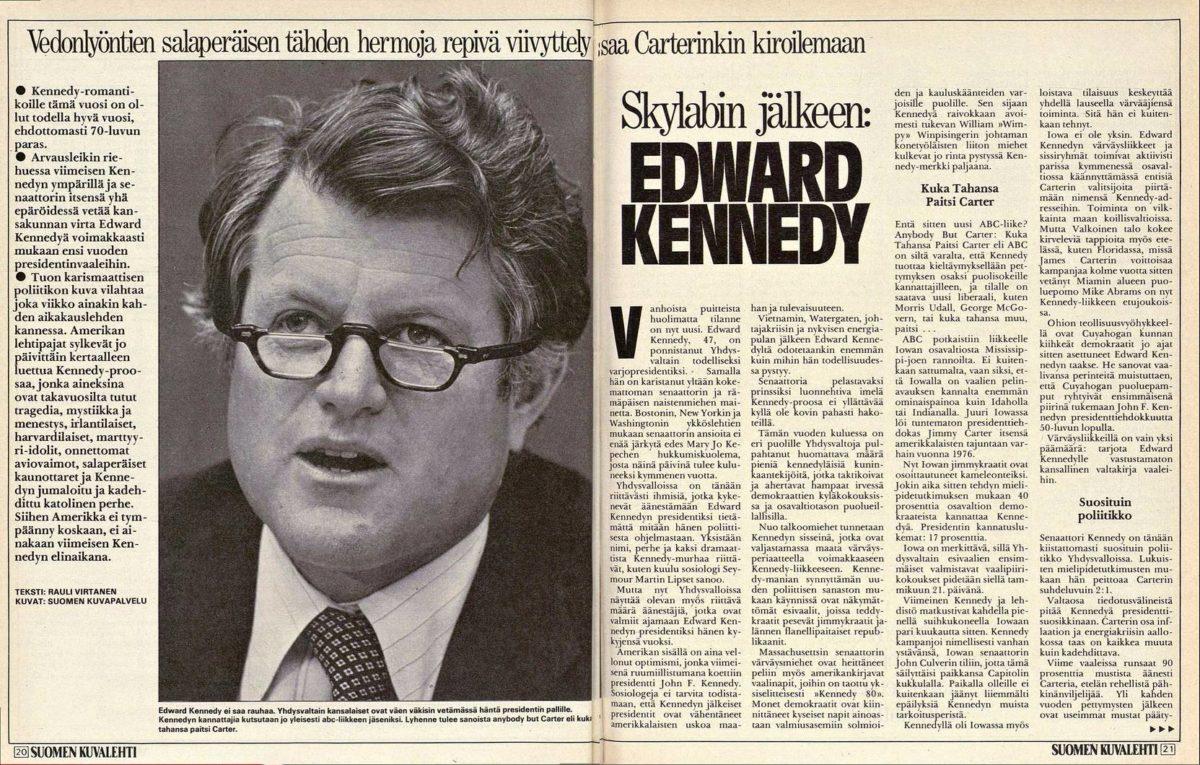 SK 28/1979 (13.7.1979) Rauli Virtanen: Skylabin jälkeen: Edward Kennedy