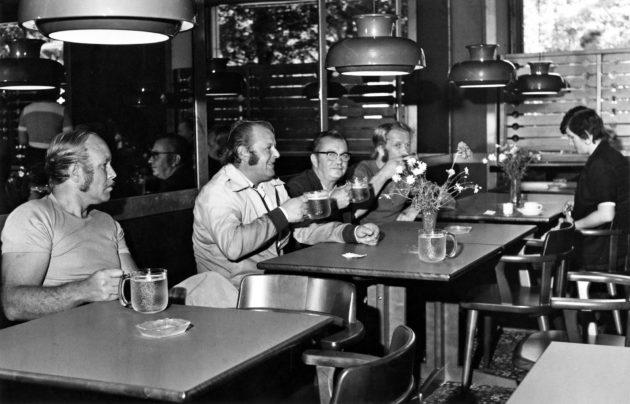 Olut maistui Tampereen Kaupunginkellarissa vuonna 1976.