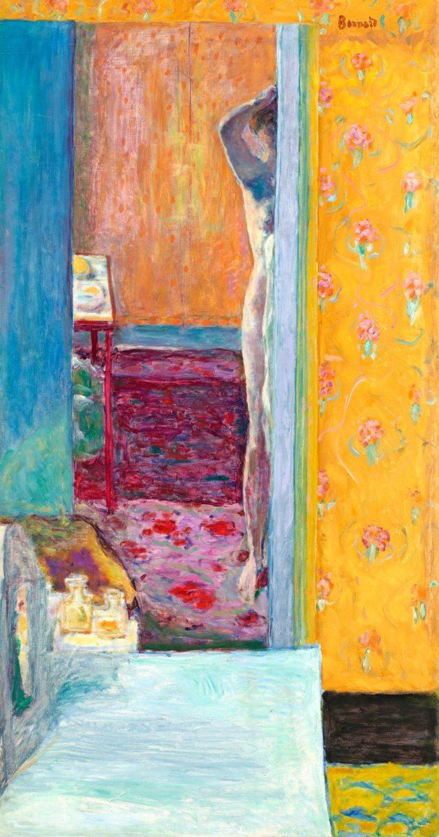 Pierre Bonnard: Alaston sisätilassa (1935).