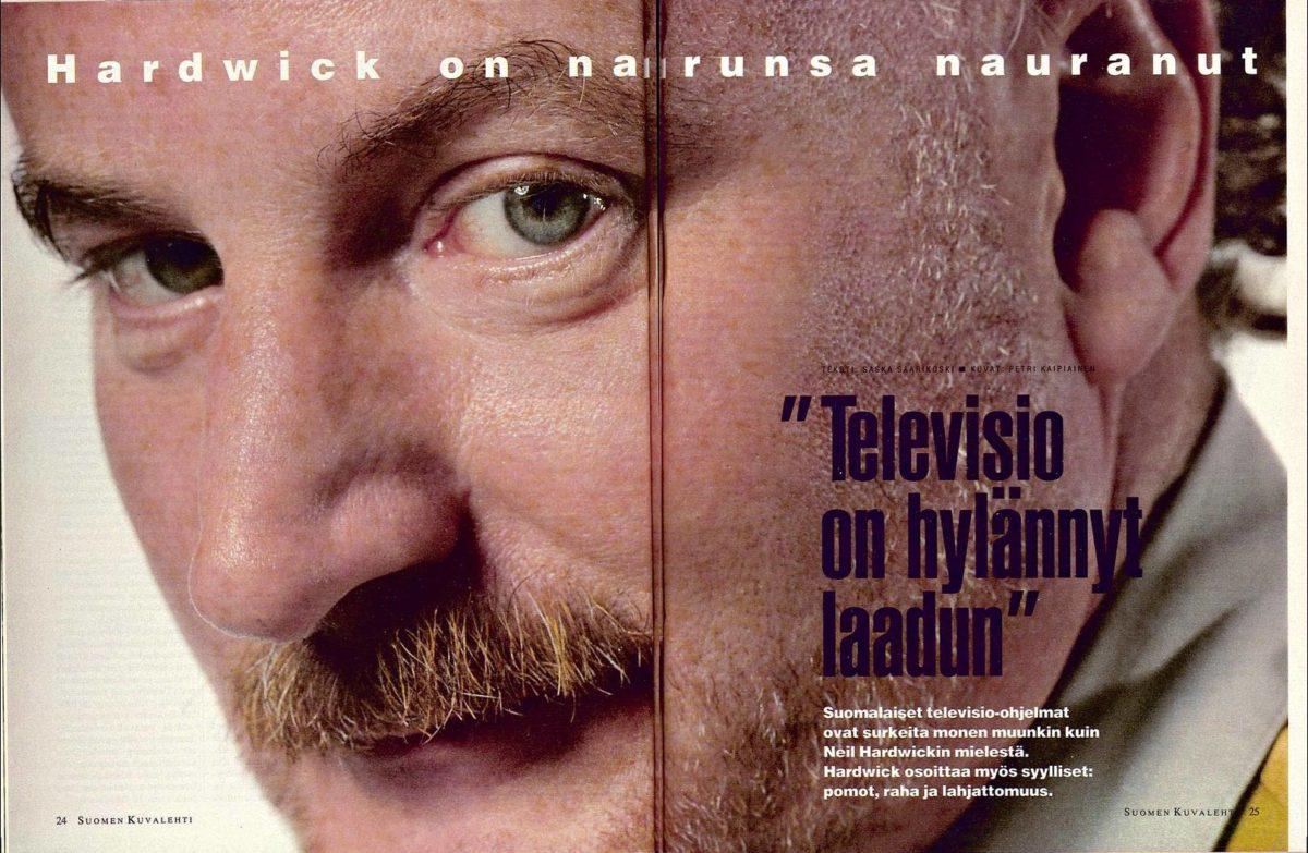 """SK 28/1994 (15.7.1994) Saska Saarikoski: """"Televisio on hylännyt laadun"""" Kuva: Petri Kaipiainen"""