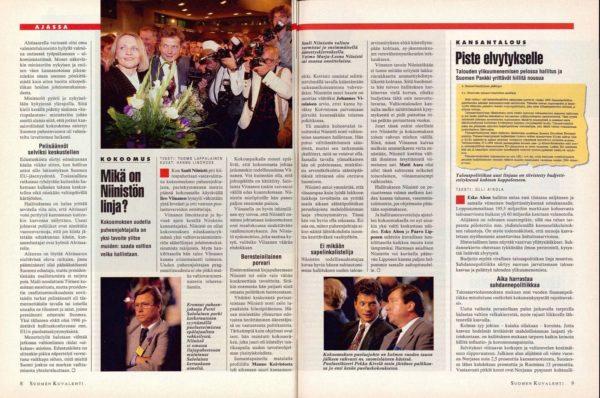"""SK 35/1994 (2.9.1994) Tuomo Lappalainen: """"Mikä on Niinistön linja?"""""""